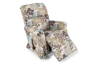 """Contemporary Floral-Patterned 33.5"""" Spring Recliner"""