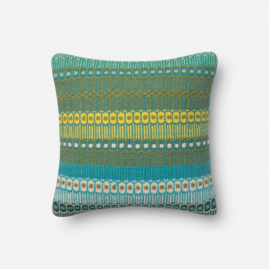 """Contemporary 18""""x18"""" Cover w/Down Pillow in Dhaba"""