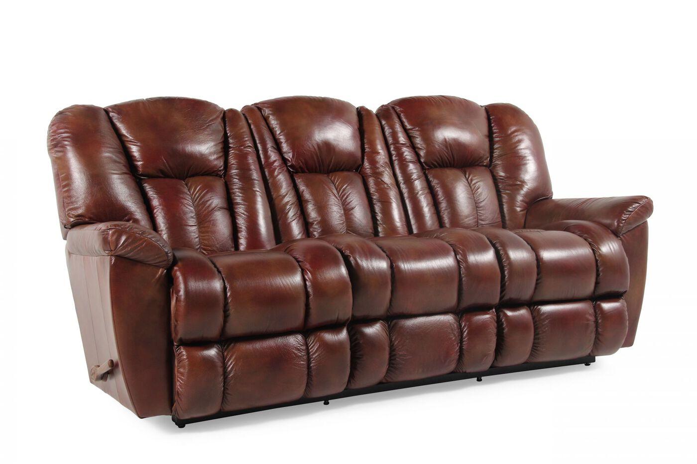 Keano Leather Sofa Mahogany Dock 86