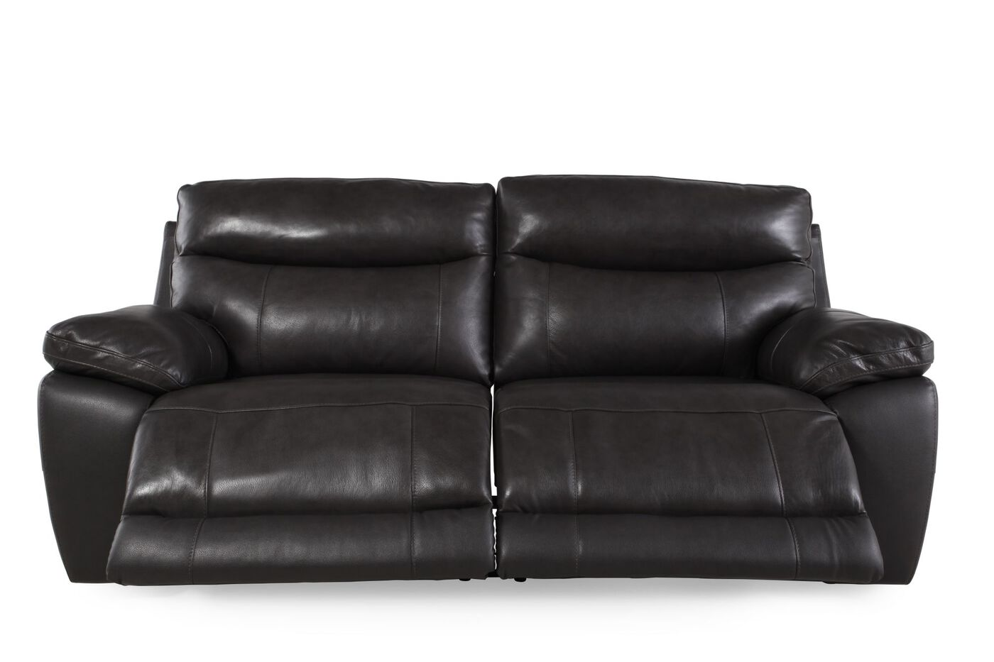 Contemporary 84 reclining sofa in pewter mathis for 84 inch sofa