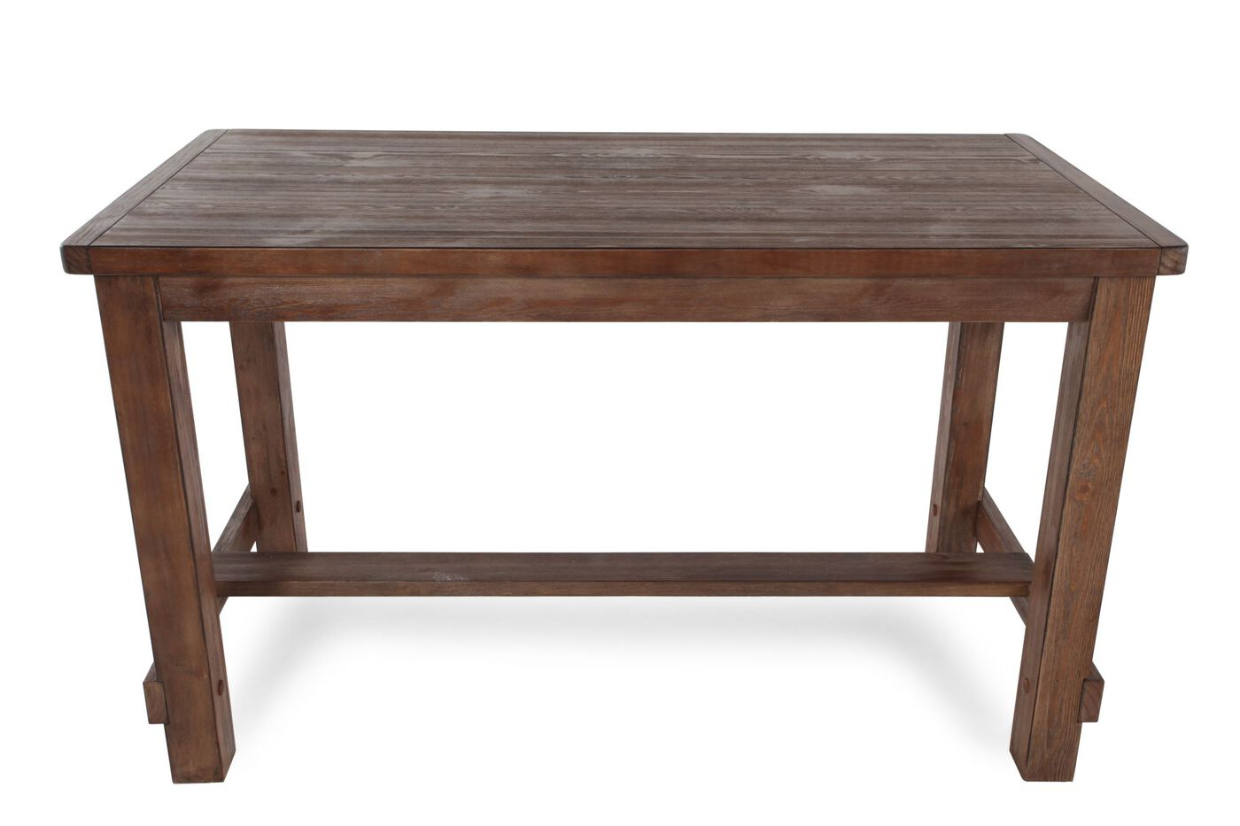 Casual 60 Quot Counter Height Dining Table In Dark Oak