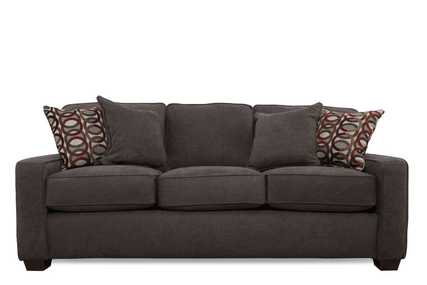 Casual 82 Quot Queen Sleeper Sofa In Dark Granite Gray