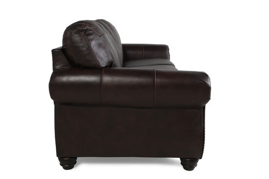 """Traditional Rolled Arm 89"""" Sofa in Walnut"""