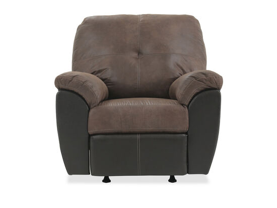 "Pillow Top Arm Traditional 40"" Rocker Recliner in Brown"