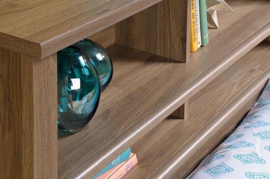 """Cottage 47"""" Twin Bookcase Headboardin Salt Oak"""