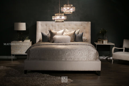 Bernhardt Interiors Maxime California King Upholstered Wing Bed