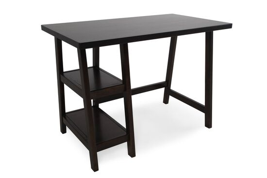 "42"" Casual A-Frame Leg Desk in Brown"
