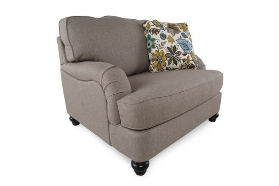 "English Arm Casual 46"" Chair and a Half in Gray"