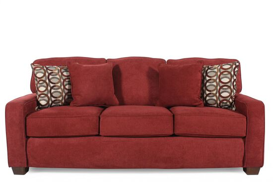 "I-Rest Casual 82"" Queen Sleeper Sofa in Red Berry"