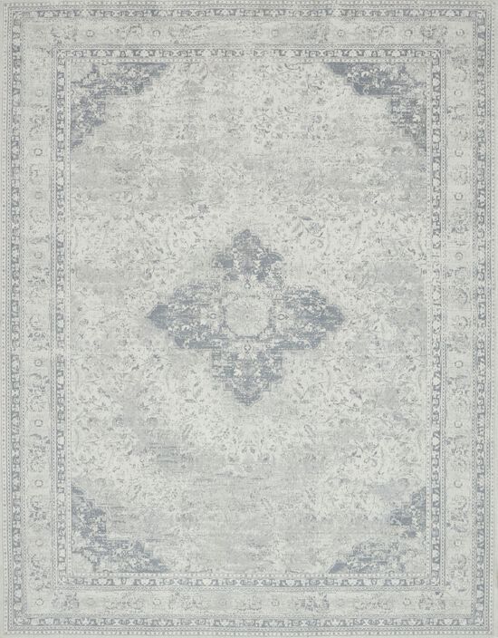 """Transitional 1'-6""""x1'-6"""" Square Rug in Ivory/Ivory"""