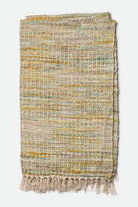 Hand Woven Contemporary Waffle Knit Throw in Yellow