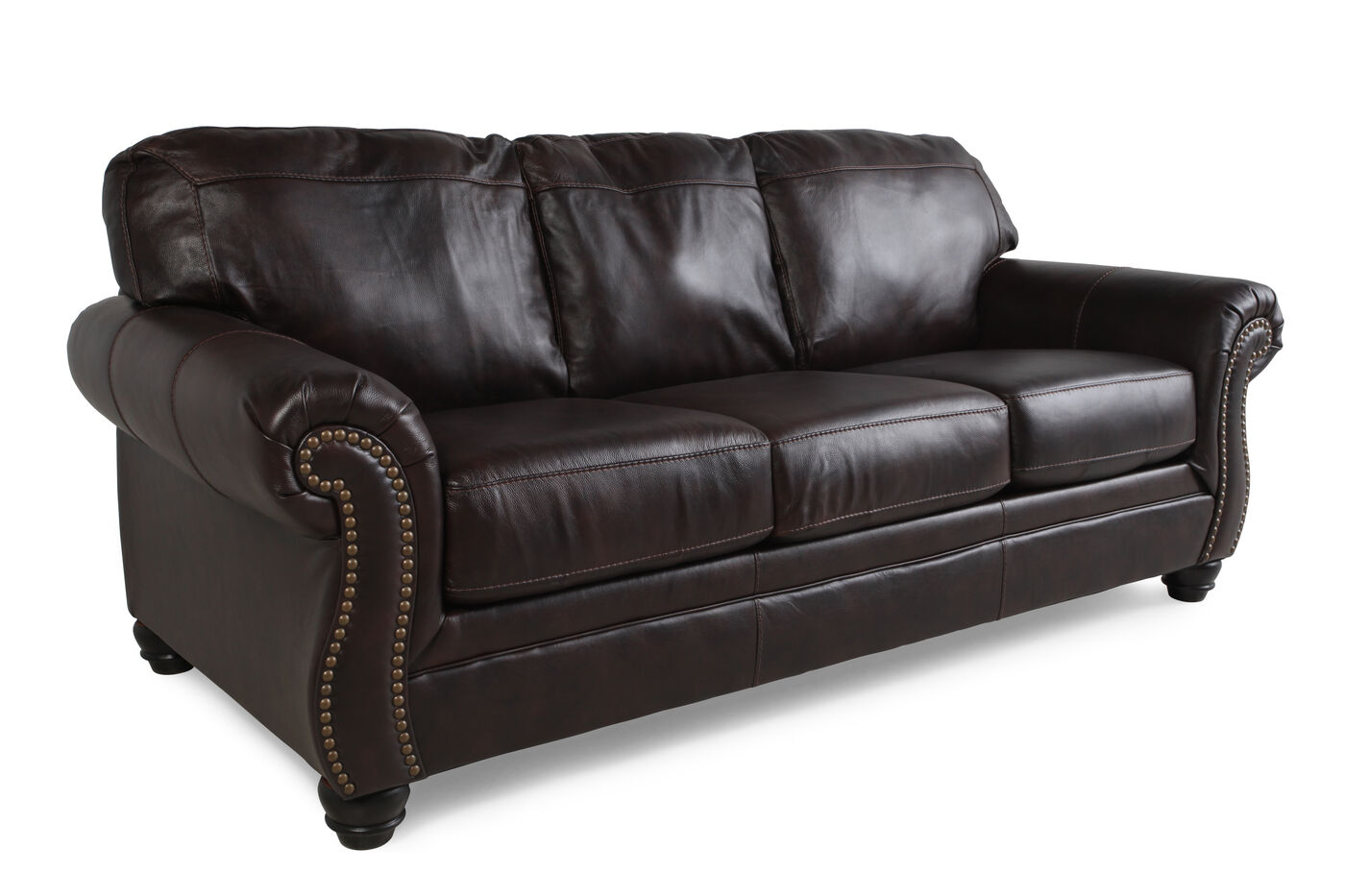 Traditional Rolled Arm Sofa Awesome Back Leather Sofa