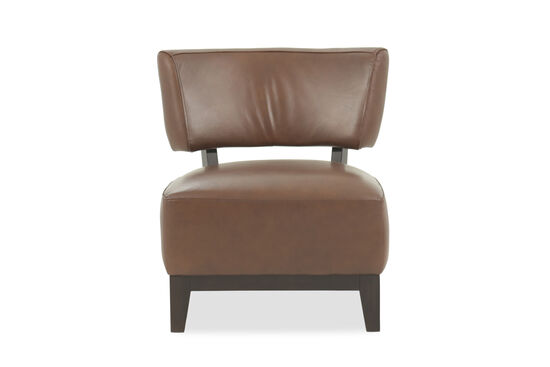 Low Profile Leather 26 Quot Accent Chair In Java Mathis
