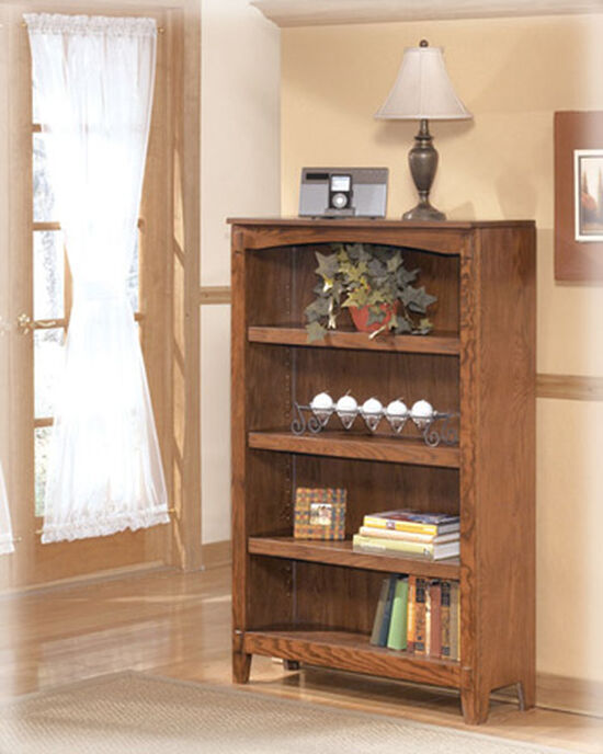 Mission Medium Bookcase in Brown Oak