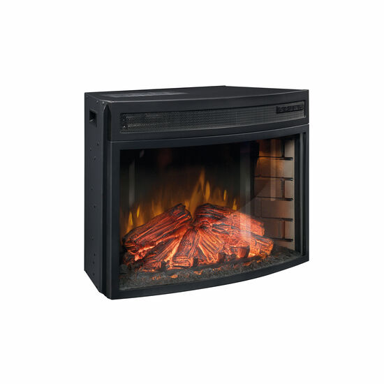 "MB Home Verdant Valley Paite Black 26"" Curved Fireplace Insert"