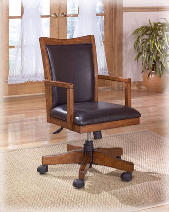 Swivel Desk Chairin Medium Brown Oak
