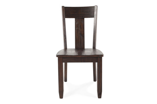 Two-Piece Splat Back 38'' Dining Chair Set in Dark Pine