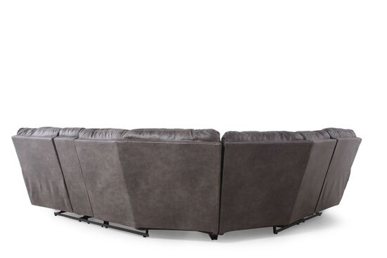 """Contemporary 187"""" Sectional in Black"""