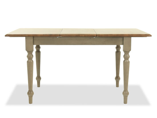 """60"""" to 75"""" Solid Rubberwood Table with Butterfly Leaf in Relaxed Gray"""