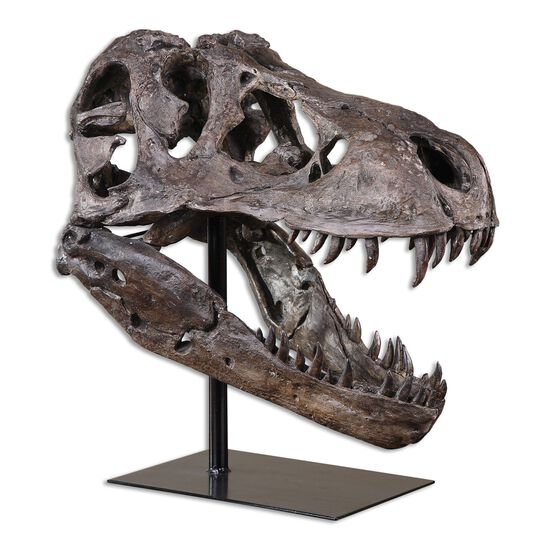 Tyrannosaurus Sculpture in Chestnut Brown