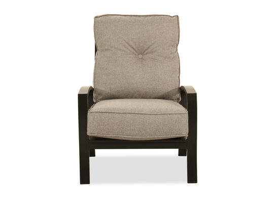 Contemporary Aluminum Lounge Chair in Light Gray