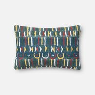 "Loloi Contemporary 13""x21"" Cover w/poly pillow in Blue/Multi"
