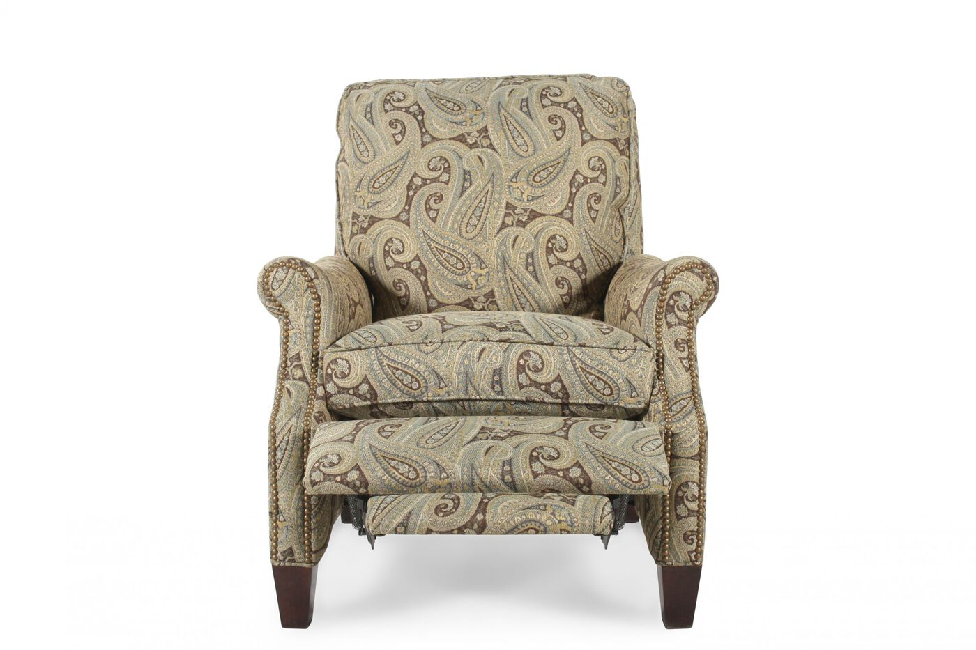 Contemporary Paisley Patterned 33 5 Pressback Recliner Mathis Brothers Furniture