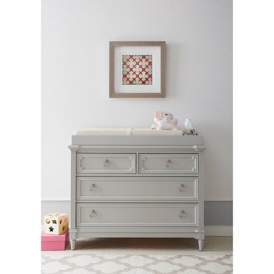 Four-Drawer Casual Youth  Dresser in Light Gray