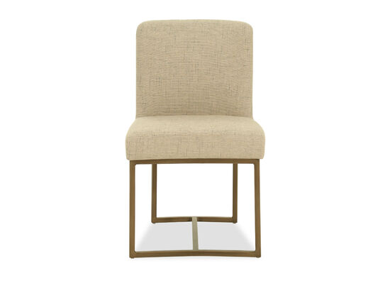 Armless Dining Chair in Bisque