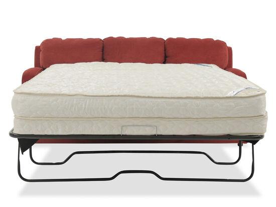 """Traditional 77"""" Queen Sleeper Sofa in Crimson"""