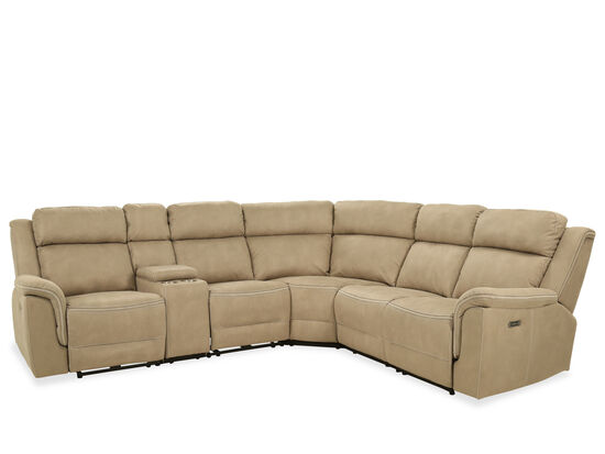 Six-Piece Power Reclining Sectional in Brown