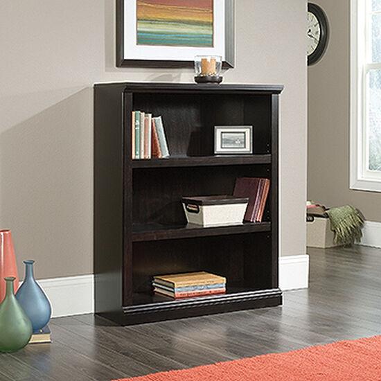 Contemporary Adjustable Shelf Open Bookcase in Estate Black