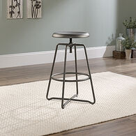 MB Home Canary Lane Gray Counter-Height Stool