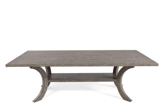 "46"" Plank Shelf Refined Romantic Luxury Dining Table in Ash"