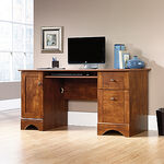 MB Home Lake Wood Brushed Maple Computer Desk