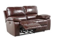 Ashley Transister Coffee Power Loveseat