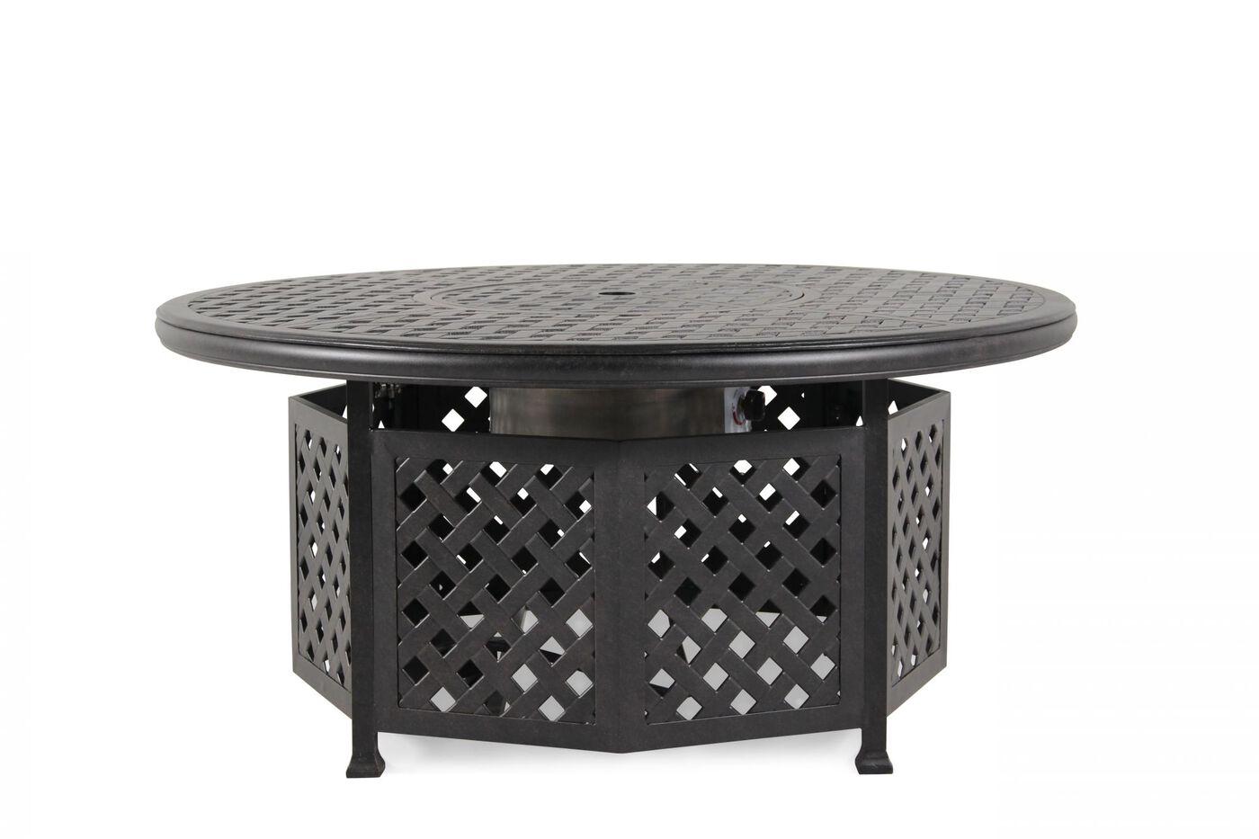 Mathis Brothers Patio Furniture world source castle rock chat fire pit table | mathis brothers