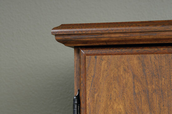 "55"" Contemporary Textured Armoire in Milled Cherry"