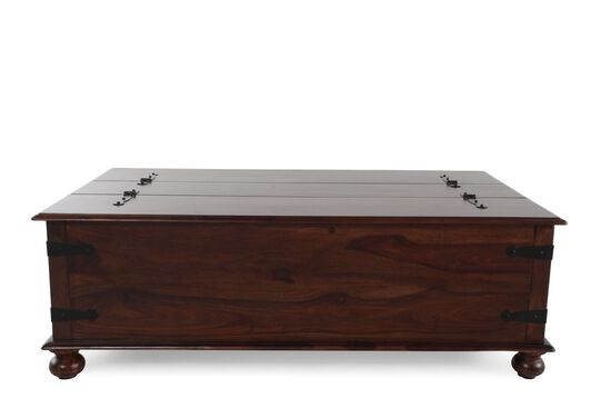 Trunk Casual Cocktail Table In Natural Wood Mathis Brothers Furniture