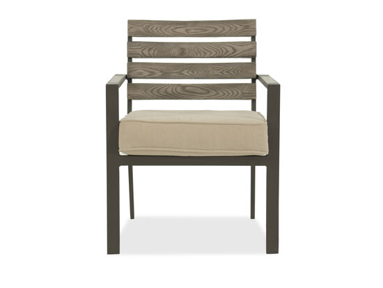 Panel-Back Aluminum Side Chair in Beige