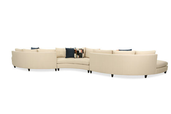 Three-Piece Contemporary Sectional in Beige