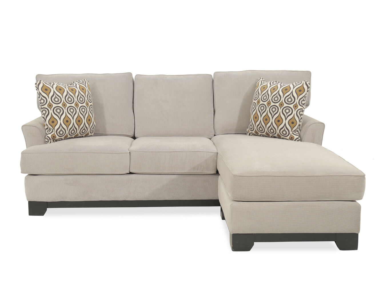 Two piece traditional 31 sectional in beige mathis for Traditional sectional