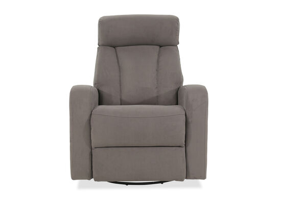 "Microfiber 34"" Free Standing Power Swivel Glider Recliner in Dim Gray"