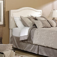 """Traditional Padded 55"""" Queen Headboardin Ivory"""