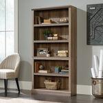 Contemporary Adjustable Shelf Open Bookcase in Salt Oak