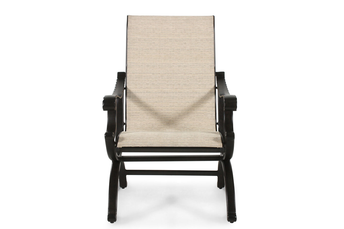 Woven Back Aluminum Sling Dining Chair In Sand Mathis