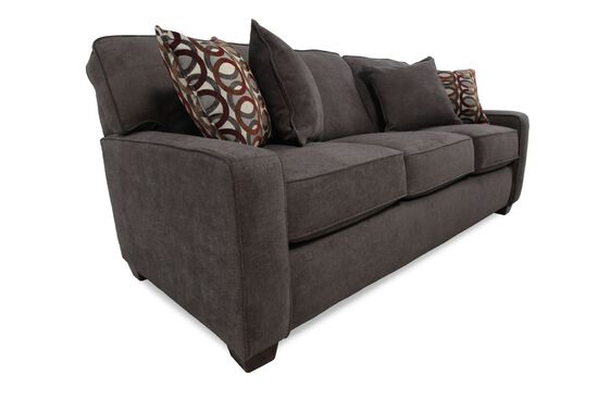 "Casual 82"" Queen Sleeper Sofa in Dark Granite Gray"