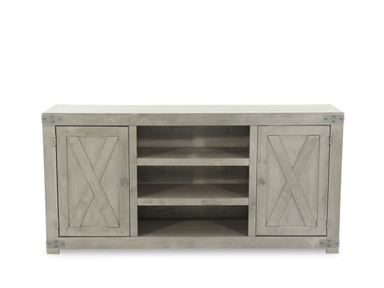X-Door Traditional Console in Rustic Gray