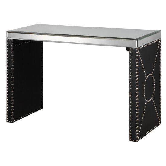 Mirrored Sofa Table in Black