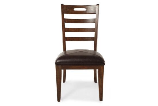 Ladder Back 39'' Side Chair in Dark Brown